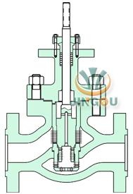 二級籠式電動調節閥 (法蘭連接)