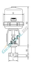電動小流量調節閥 (配引進型381執行器)