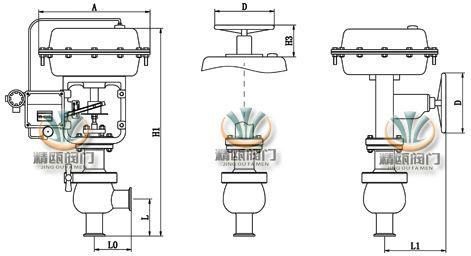 气动卫生调节阀|气动卡箍调节阀|食品用气动调节阀