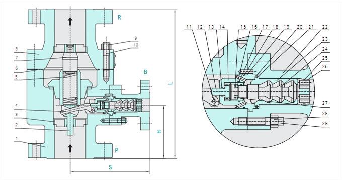 vrm系列自动再循环泵保护阀,泵保护阀,自动循环控制阀图片